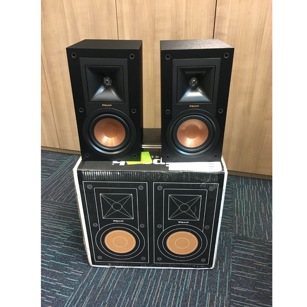 bookshelf r speakers a black speaker pair klipsch