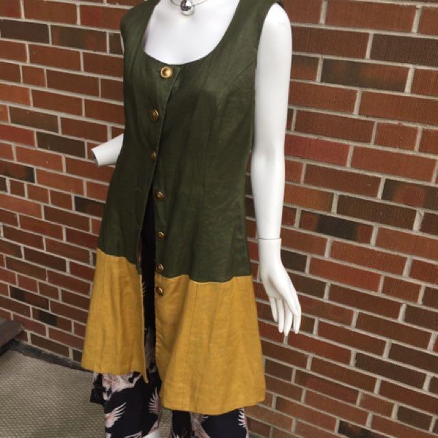 Linen dress/vest