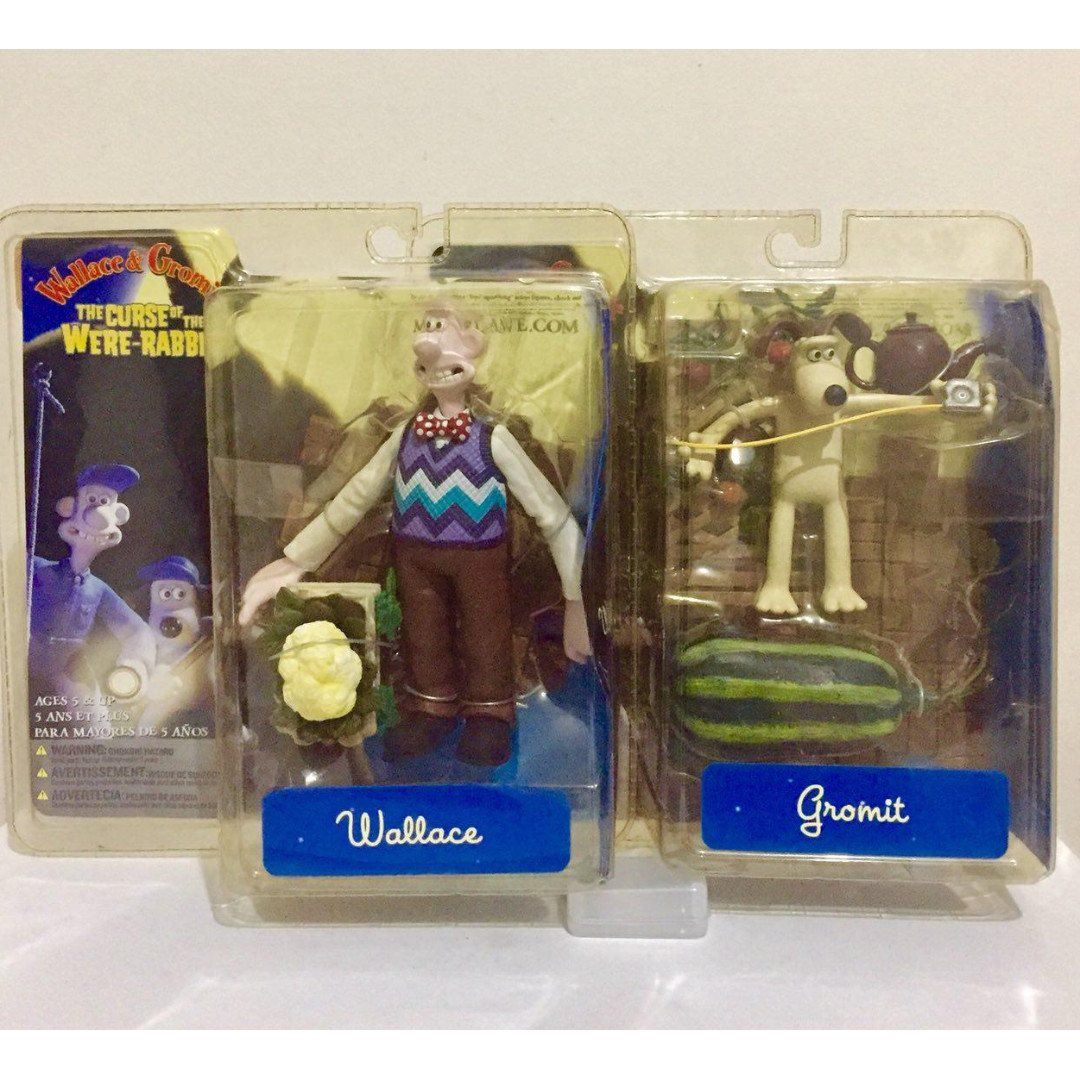 "MCFARLANE 6"" THE CURSE OF THE WERE-RABBIT WALLACE & GROMIT - SET OF 2"