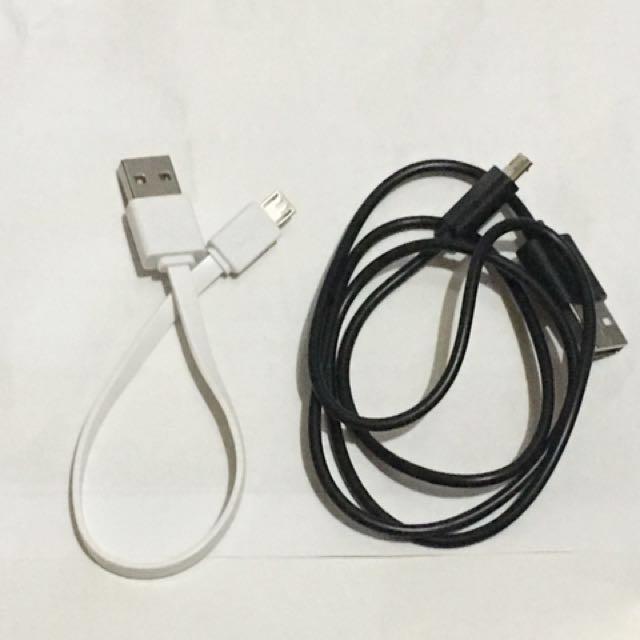 安卓micro充電線兩條加贈線套