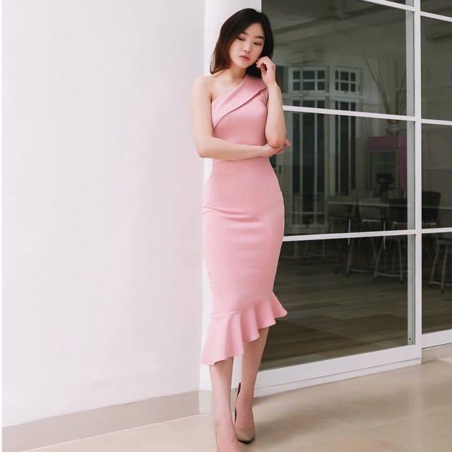 Midi Dress Baby Pink (New)