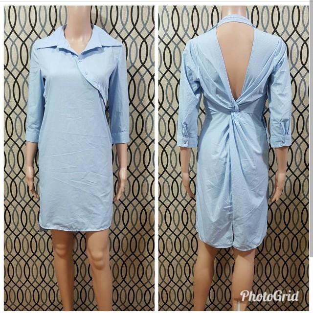 Midi Pinstripe Dress