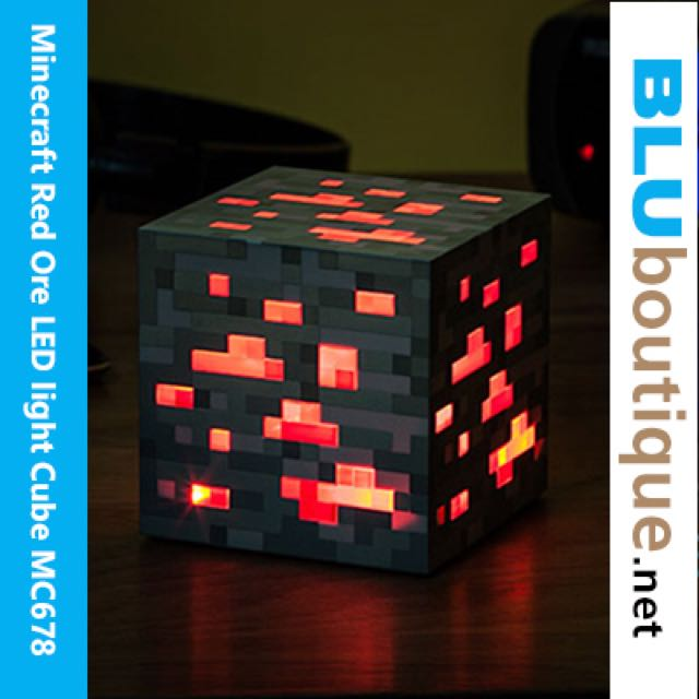 Minecraft Red Ore Led Light Cube Led Torch Activated Night light