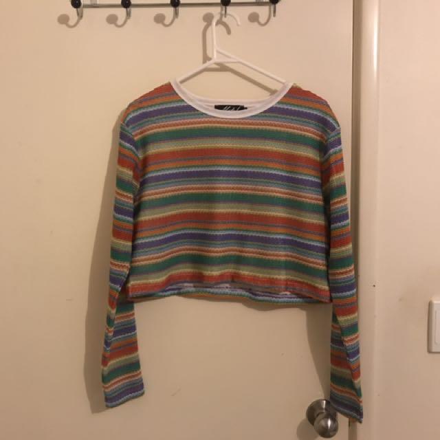 Motel rainbow cropped jumper