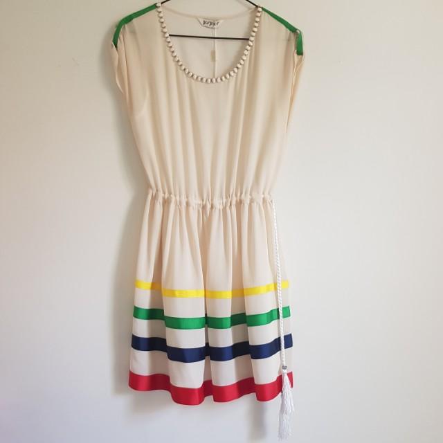 multi colour dress BNWT