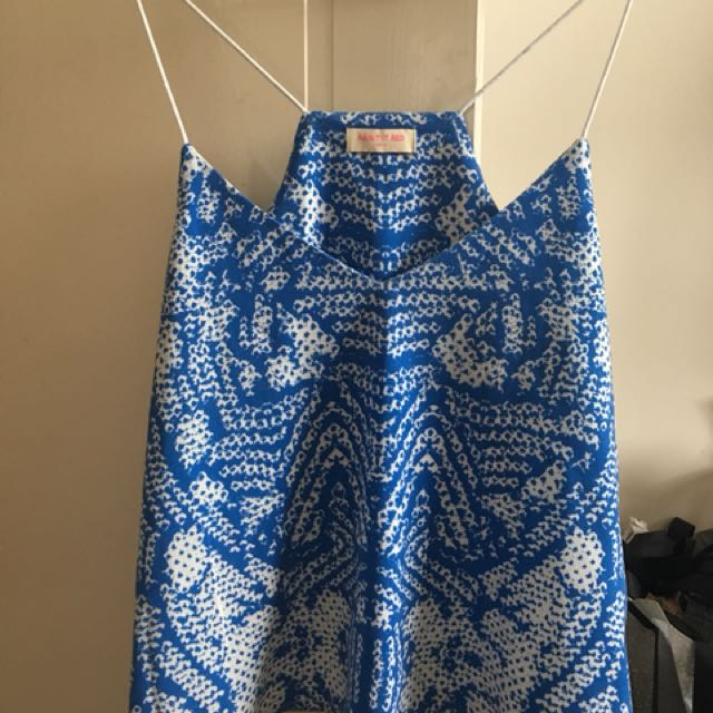 MYER paint it red blue white printed top size m