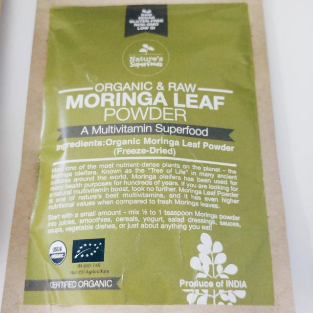 Nature's Superfoods Moringa Leaf Powder 100g