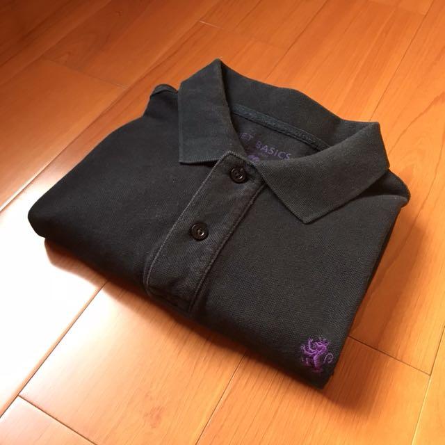 《清倉隨便賣-買到賺到》NET(正品)短袖黑色素色polo衫