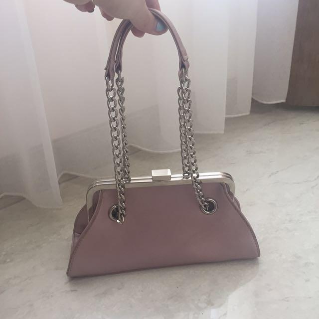 Nine West Clutch Shoulder Bag Pink