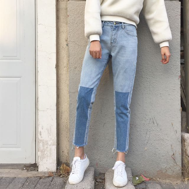 Old Wash Straight cut Jeans