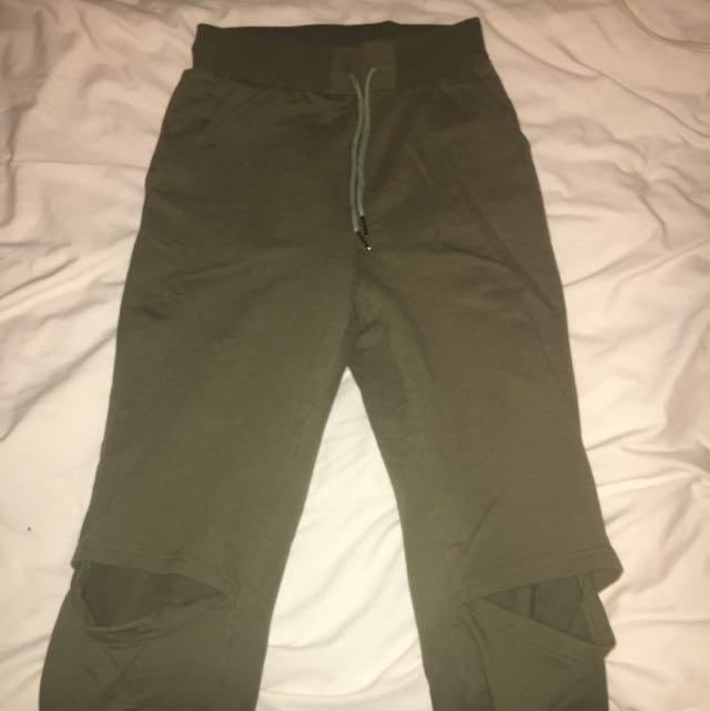 Olive Green Sweat Pants
