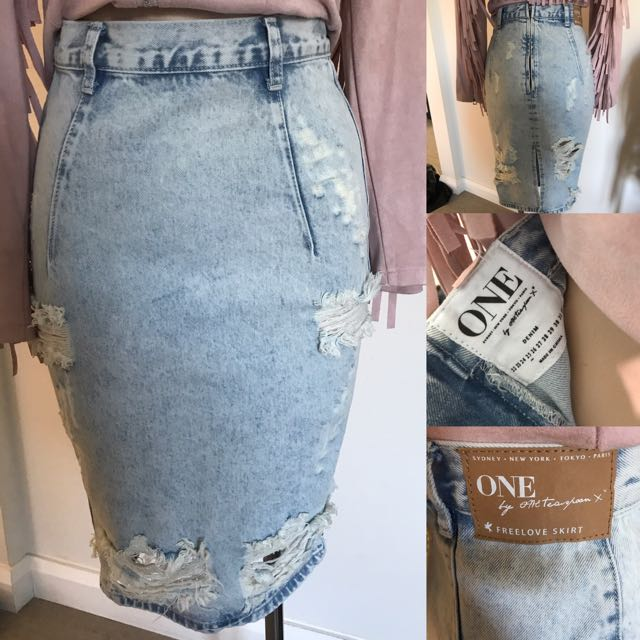 a14d063a9 One By Teaspoon Denim Skirt Women S Fashion Clothes On Carousell