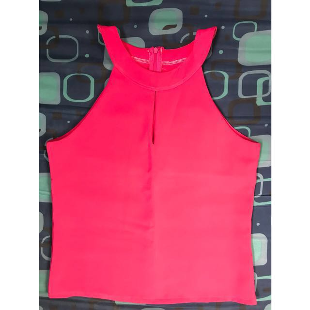 Pink blouse size medium. Thick material.