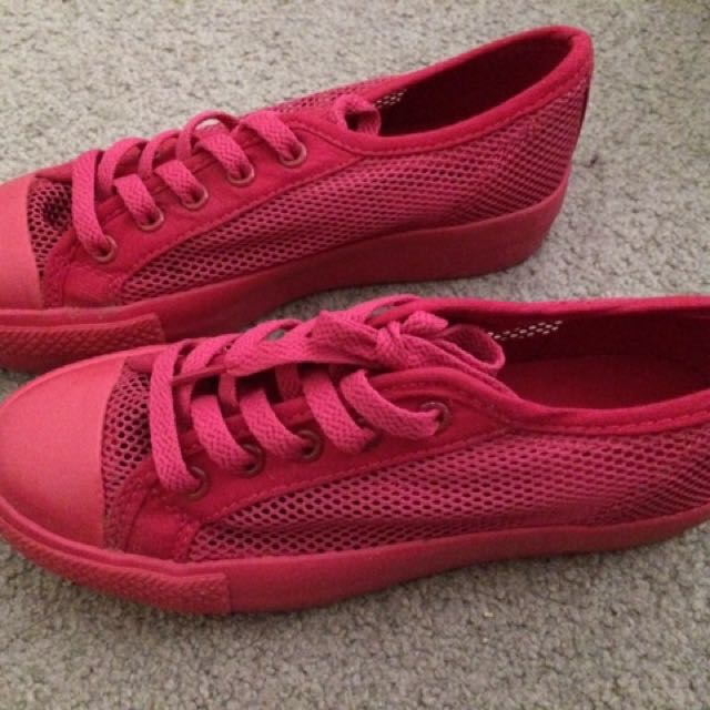 Pink Mesh Shoes
