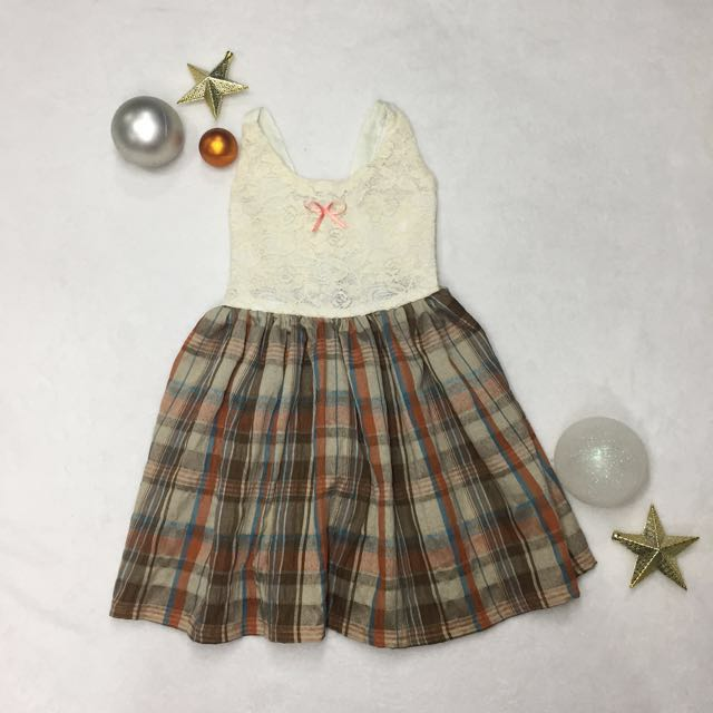 Plaid Kid's Dress