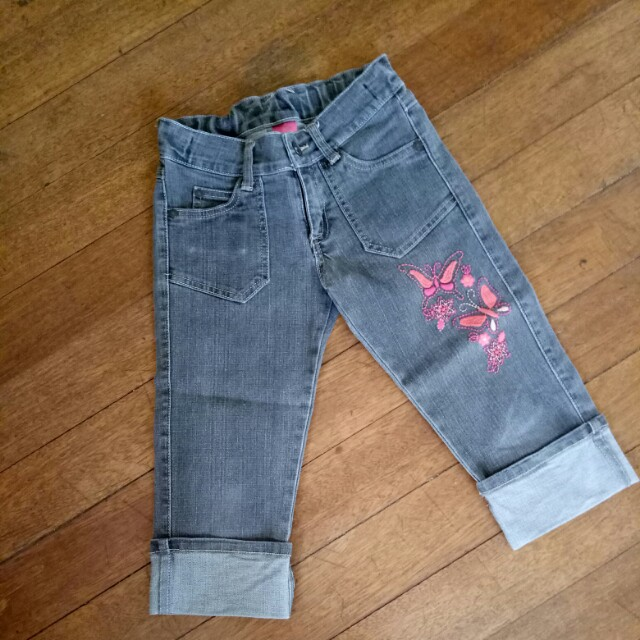 Pumpkin Patch Capri Denim Pants Black