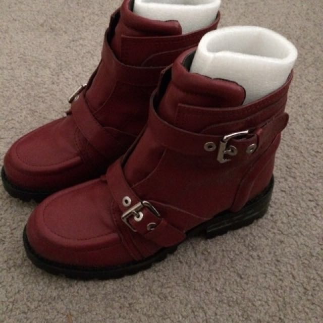 Red Belted Boots