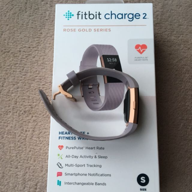 Rose gold Fitbit charge 2