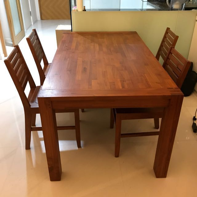 Scanteak Grans Dining Table Teak Wood Furniture Tables Chairs On Carousell