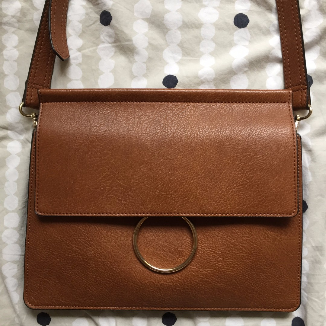 SEED brown leather bag