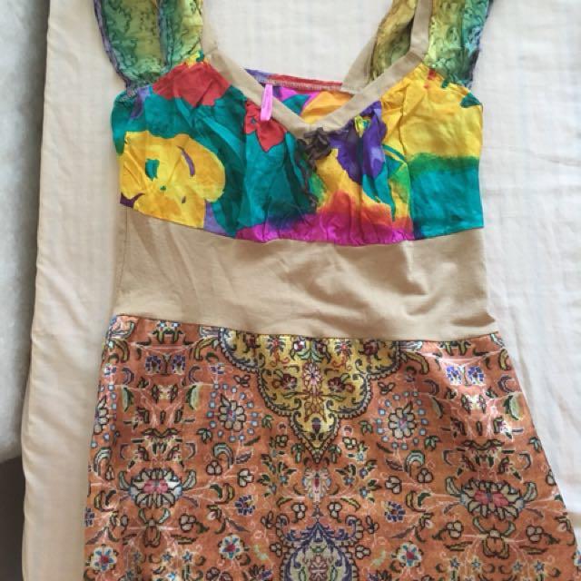 Silky colourful shirt