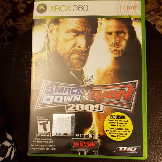 Smack Down Vs. Raw 2009 XBOX 360