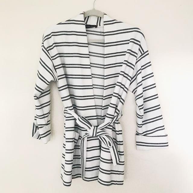 Striped Kimono Sweater