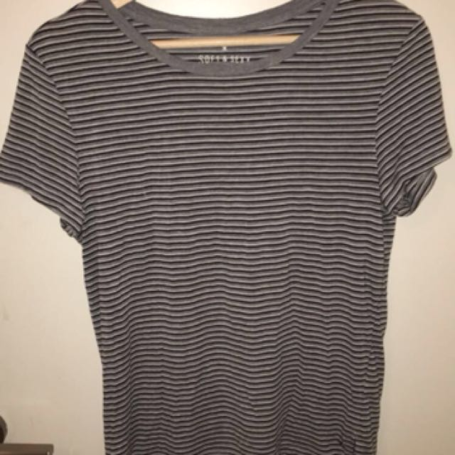 super soft striped t shirt