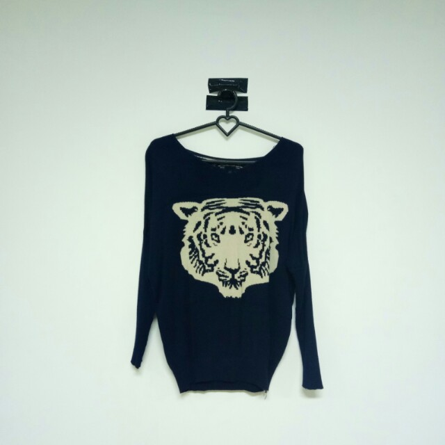 Sweater navy tiger