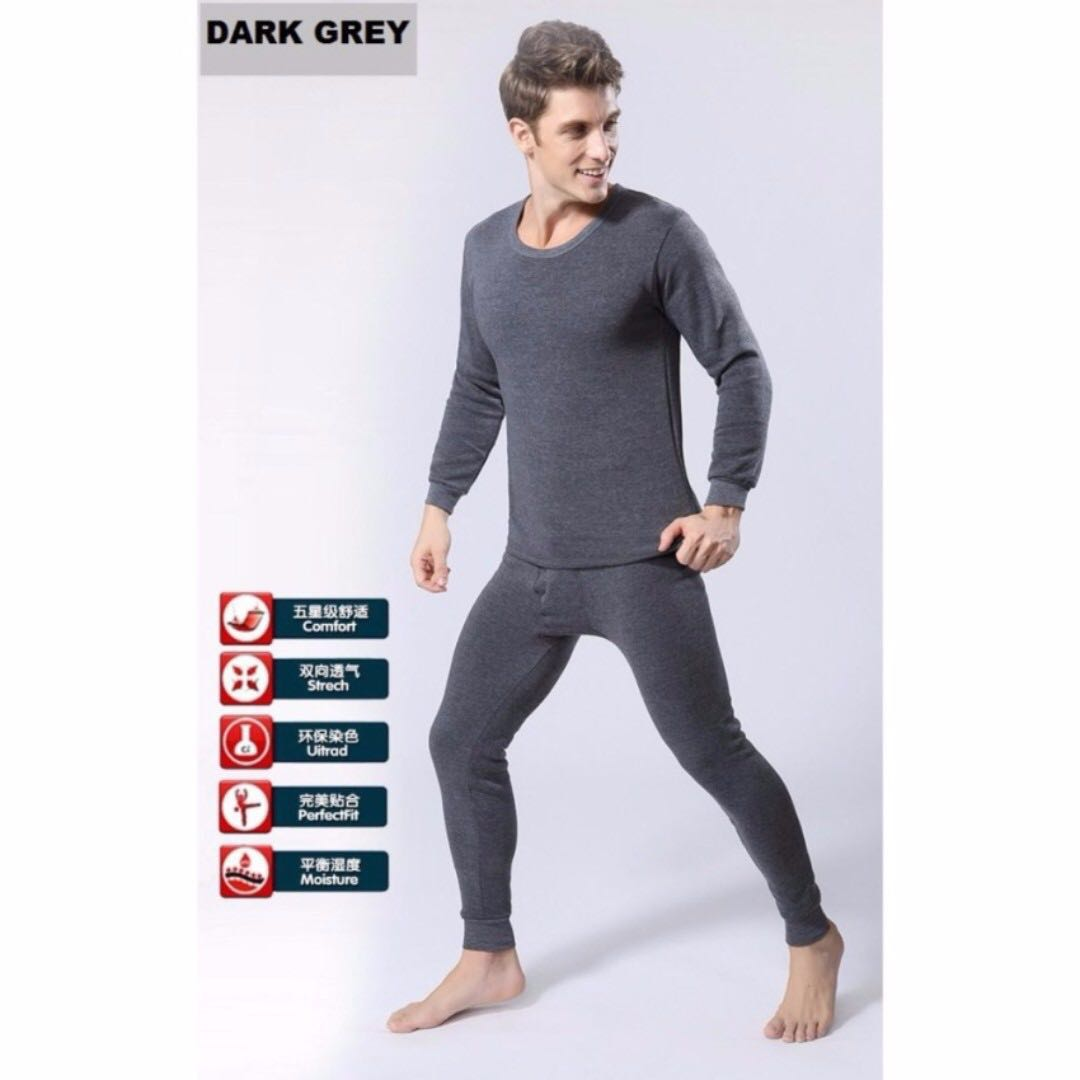 70940fb3cb3 THERMAL WINTER WEAR FOR MEN - GREY TOP   BOTTOM