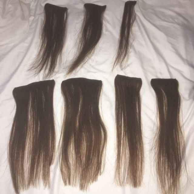 Trade secrets chocolate brown 13' extensions - real hair