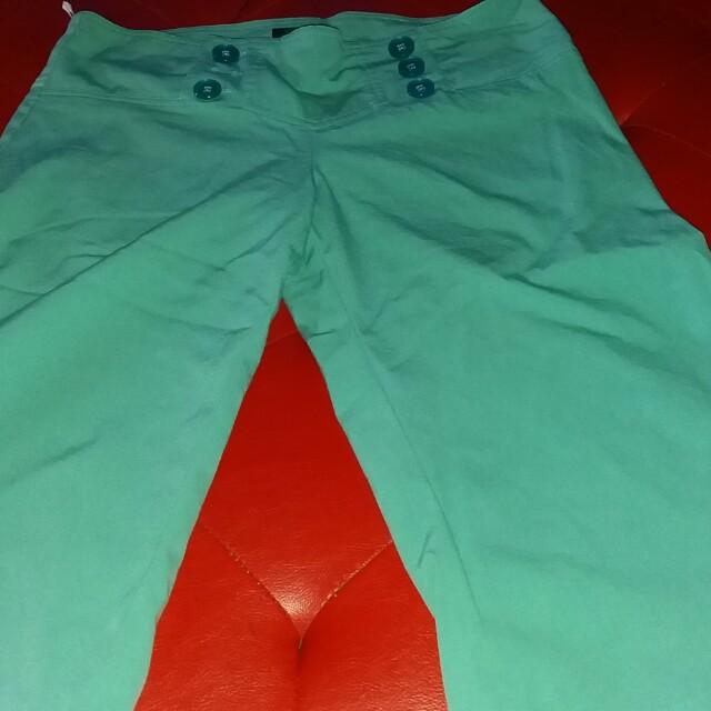 U  culottes mint green pants