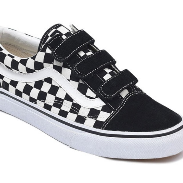 Vans Checkerboard Velcro, Men's Fashion