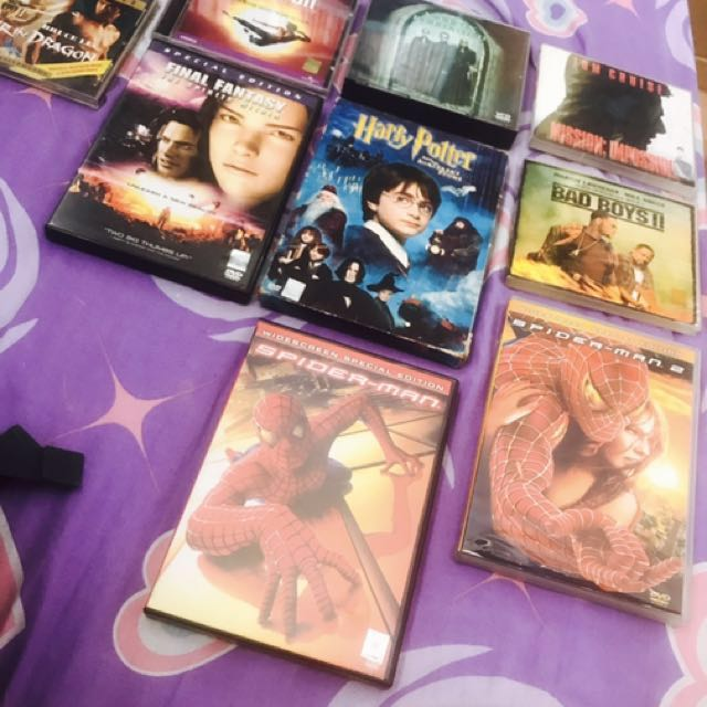VCDs and DVDs