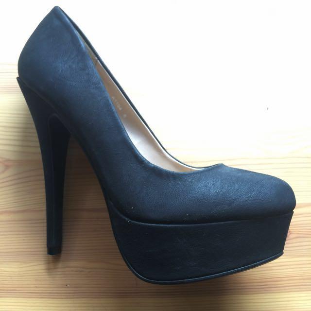 Verali Black Platform Heels Size 8