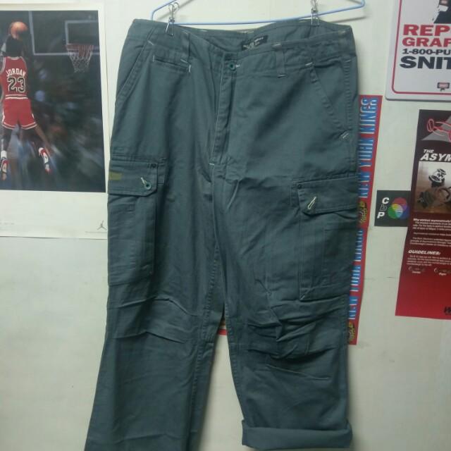 Vintage Polo Jeans 灰綠色 工作褲 寬褲 古著