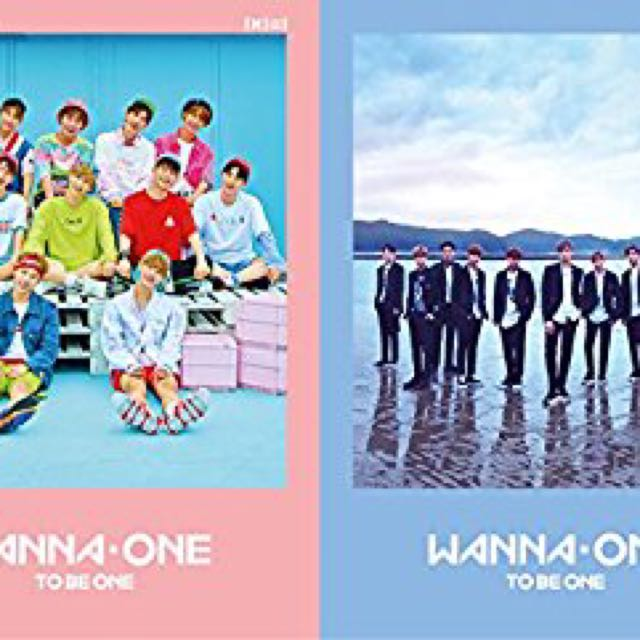 Wanna One Album Poster (Blue & Pink) include tube