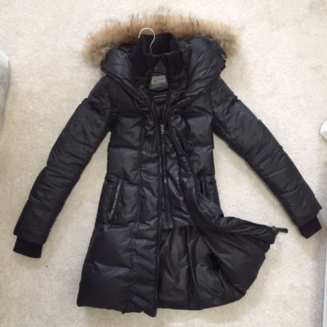 Xxs long down mackage coat
