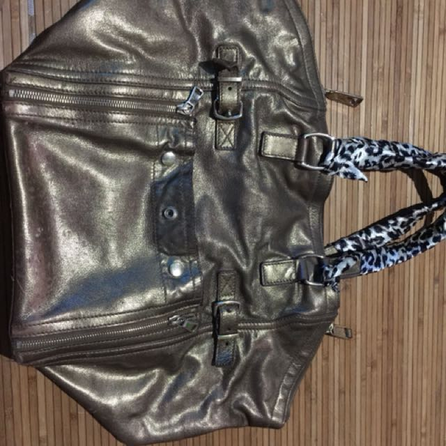 YsL metallic bag