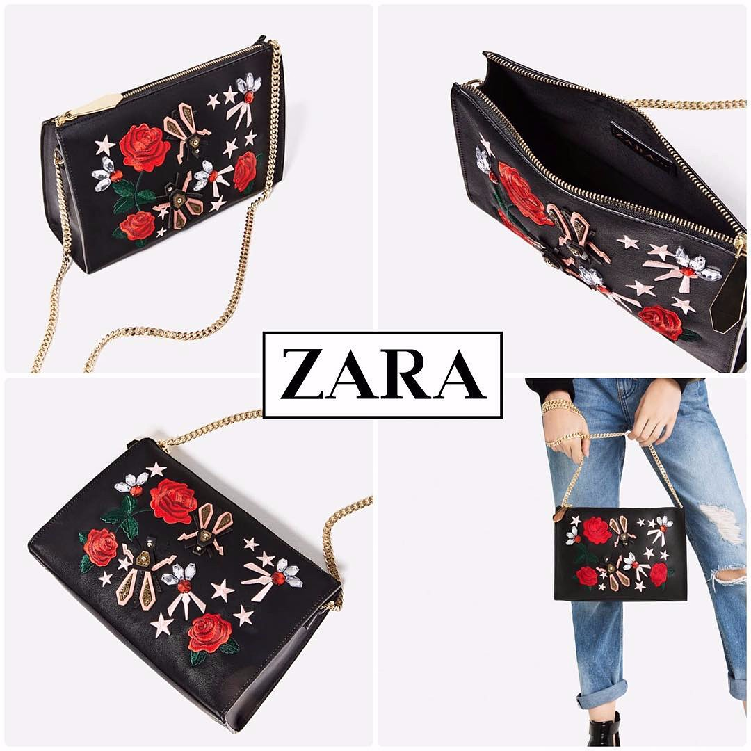 aade9982446 ZARA EMBROIDERED FLOWER BAG ORIGINAL, Luxury, Bags & Wallets on Carousell