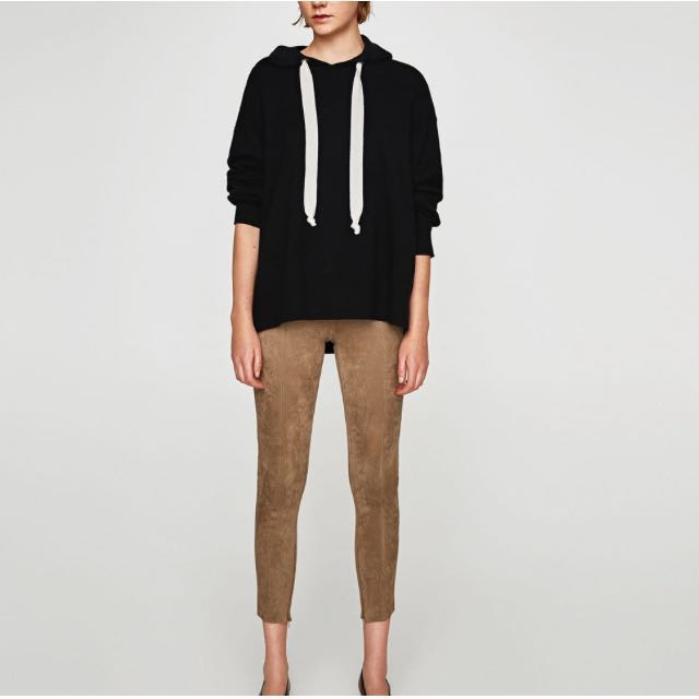 Zara Faux Suede Pants