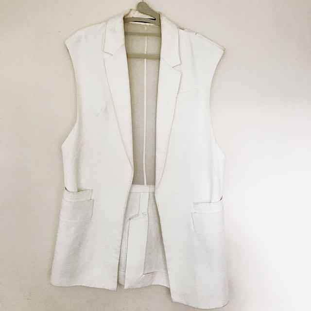 Zara Over Sized Silk-back Vest