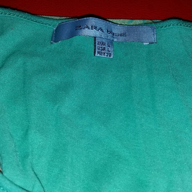 Zara two-piece green top
