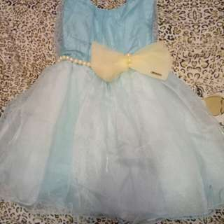 Preloved Blue Gown for Baby 6 mos to 1 year old