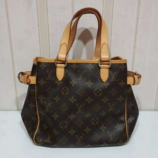 Louis Vuitton Batignole Small Vertical Monogram Authentic