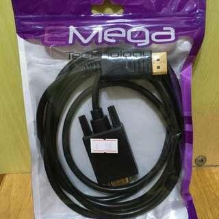 Displayport M to VGA M Cable