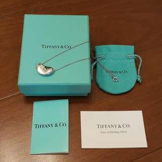 Tiffany&Co相思豆純銀項鍊(大)