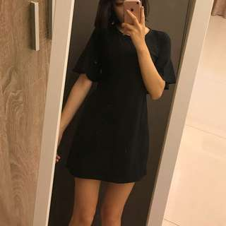 🖤黑色小露腰洋裝
