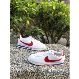 ✔️Nike Classic Cortez Leather 紅白藍 皮革 阿甘鞋