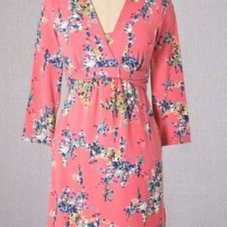 Boden floral jersey dress size 4 pink